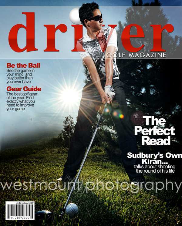 Golf Pro comes in for photo shoot