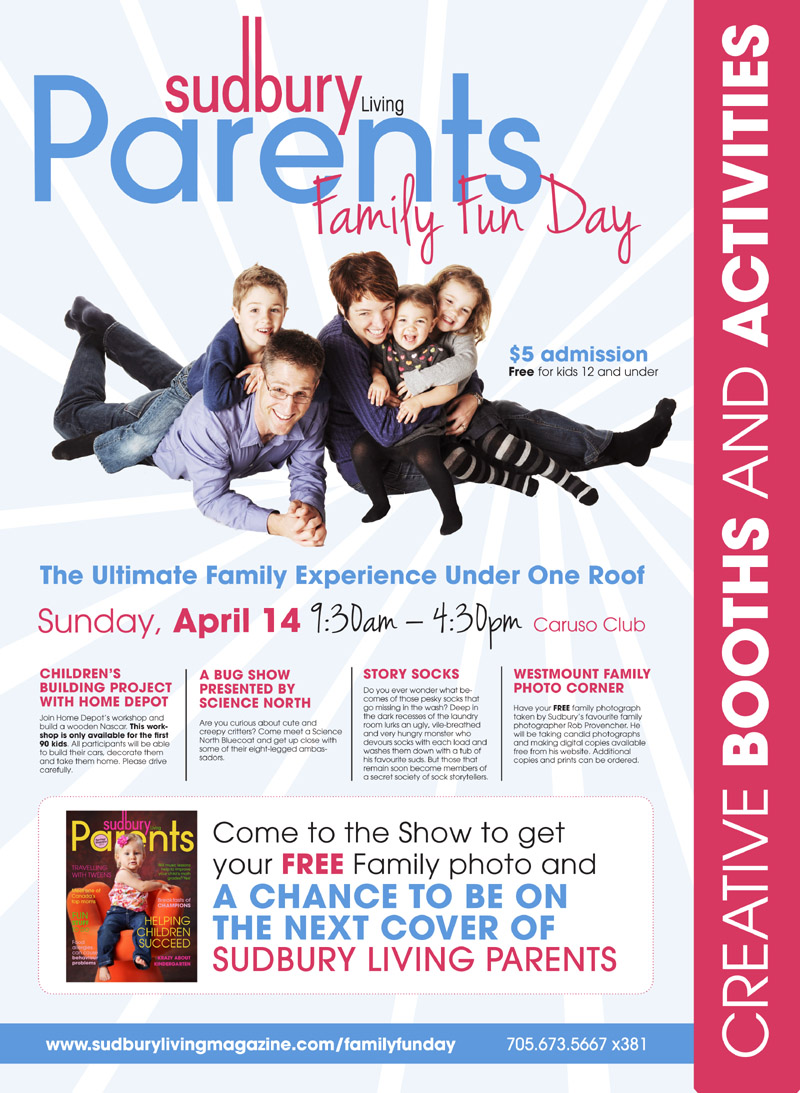 Sudbury Living Family Fun Day - Poster