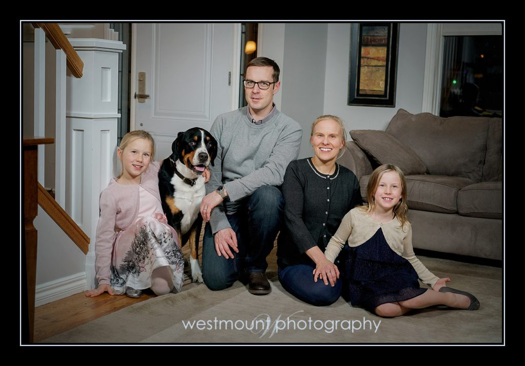 Family portraits at your house….