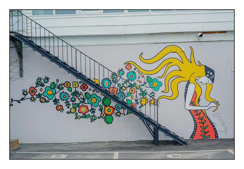 Danielle's First Solo Mural…