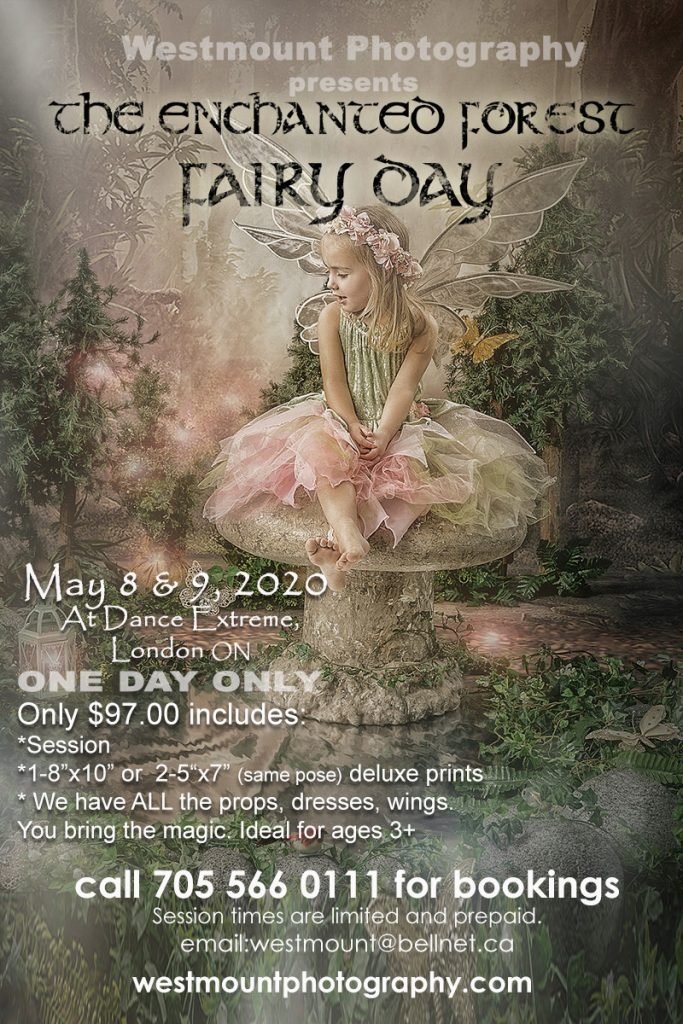 Pop Up Wedding dates and fairies in London, ONT