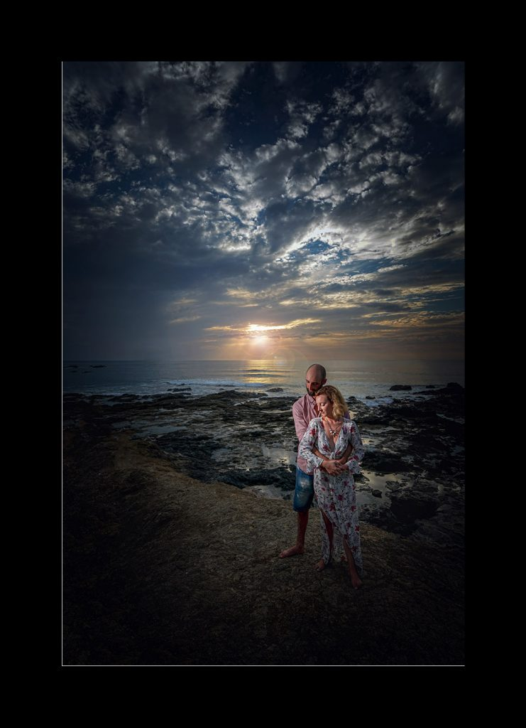 Engagement style portraits on the beach in Costa Rica…