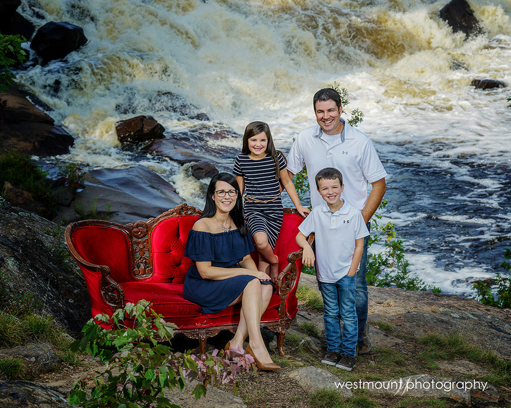 Family portraits at Onaping falls…
