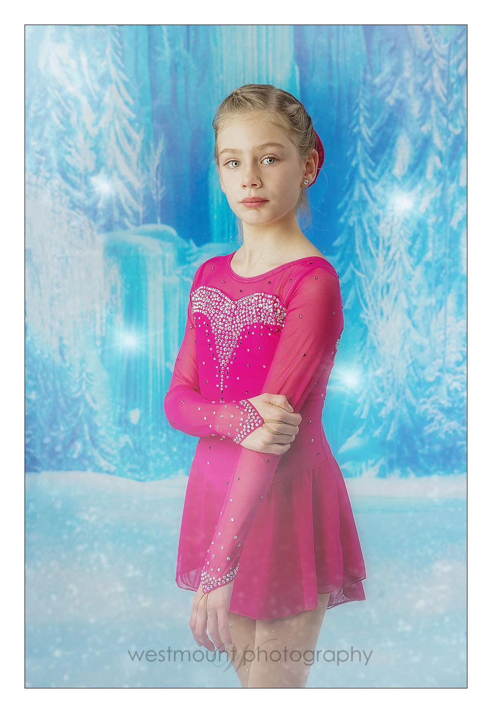 In studio figure skater photography…