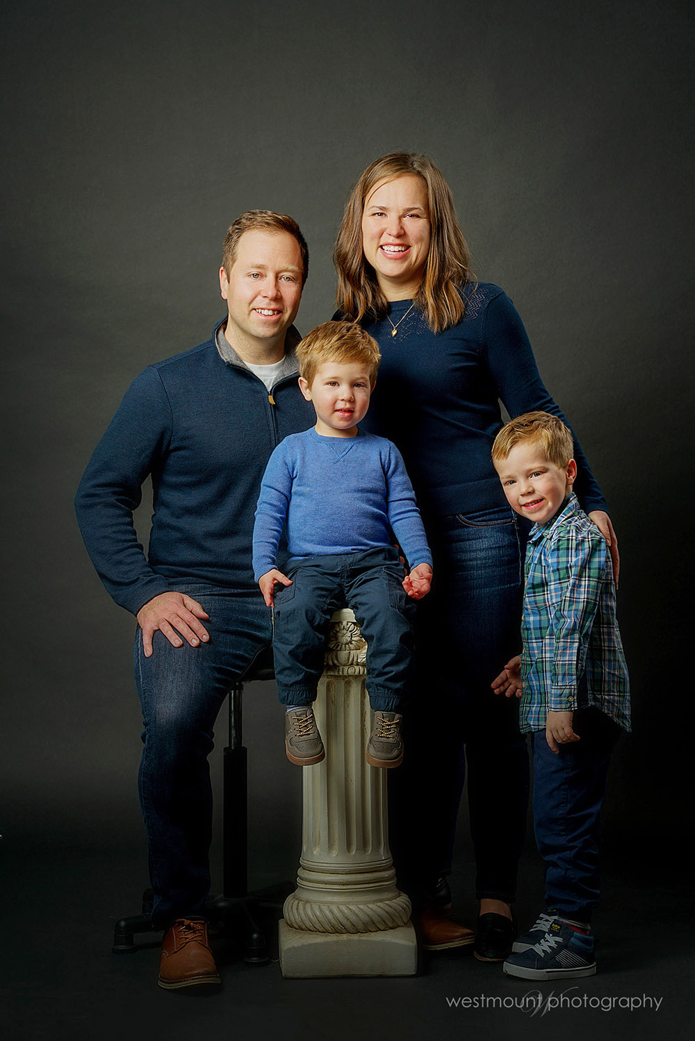 Family sessions in studio from last fall…